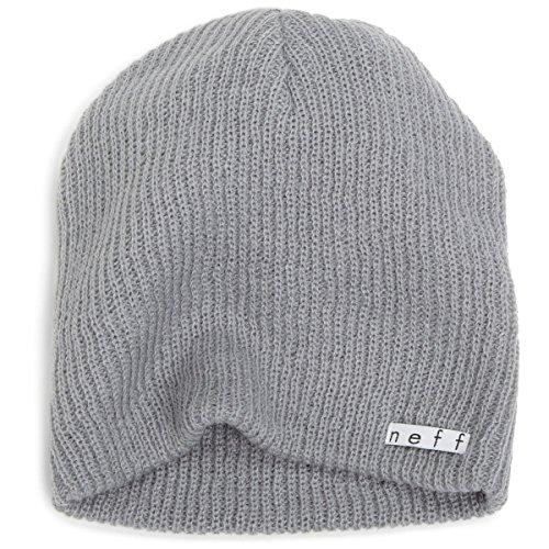 Neff Unisex Daily Beanie  Warm  Slouchy  Soft Headwear  Fog  One Size