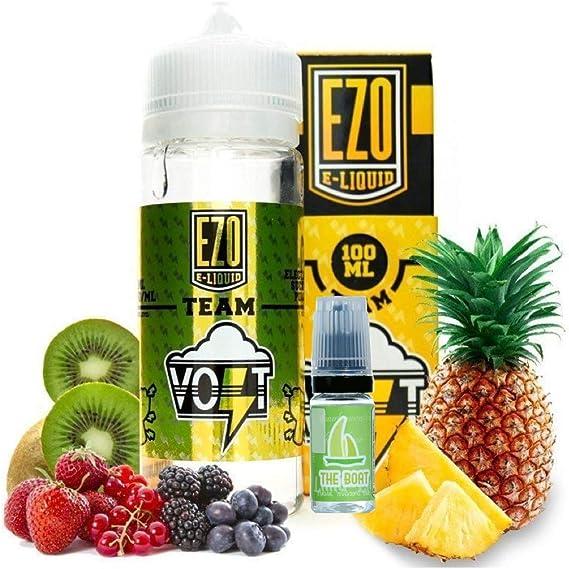 E Liquid EZO Volt Electric Sucker Punch 100ml - 70vg 30pg - booster shortfill + ELiquid The Boat 10 ml lima limón - Pack de 2 unidades para cigarrillo electrónico.: Amazon.es: Salud y cuidado personal