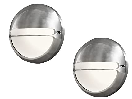 Konstsmide set dimmerabile applique da parete torino alluminio