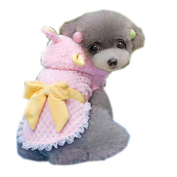 Ropa para Mascotas,Dragon868 Invierno otoño Suave Franela Mascotas Cachorro Perros Ropas suéter Abrigos: Amazon.es: Ropa y accesorios