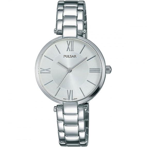 Pulsar Reloj Analógico para Mujer de Cuarzo con Correa en Acero Inoxidable PH8237X1: Amazon.es: Relojes