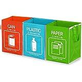 recyclebaren Abfall Tasche Separate Papierkorb Wasserdicht Körbe 3Stück Fach Container-Tasche Typ einfaches tragen