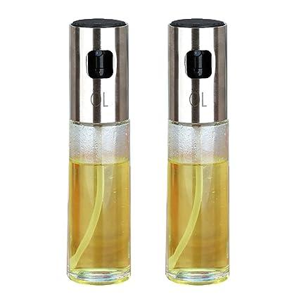 TOOGOO 2 Unids/Juego Botella de Rociador de Aceite Bomba de Cocina Pulverizador de Aceite