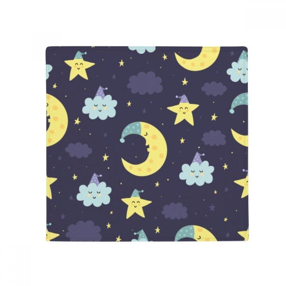 DIYthinker Cartoon Moon Night Personification Pattern Anti-Slip Floor Pet Mat Square Home Kitchen Door 80Cm Gift