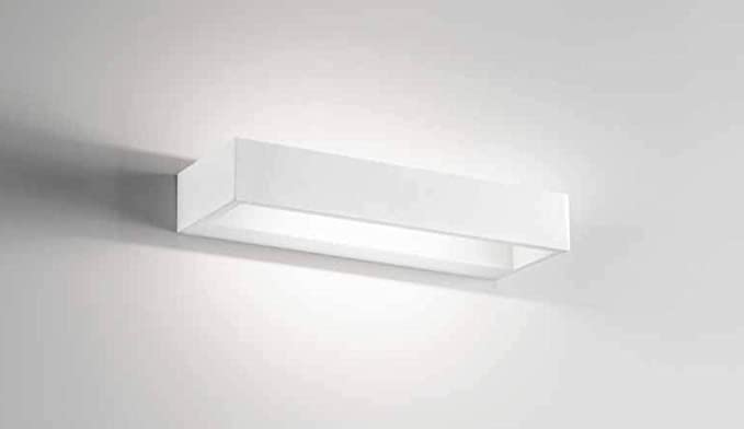 Isyluce applique design moderno led w k rettangolare metallo