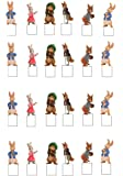 24 Peter Rabbit Stand Ups Edible Rice Card Cake Toppers (3.5cms)