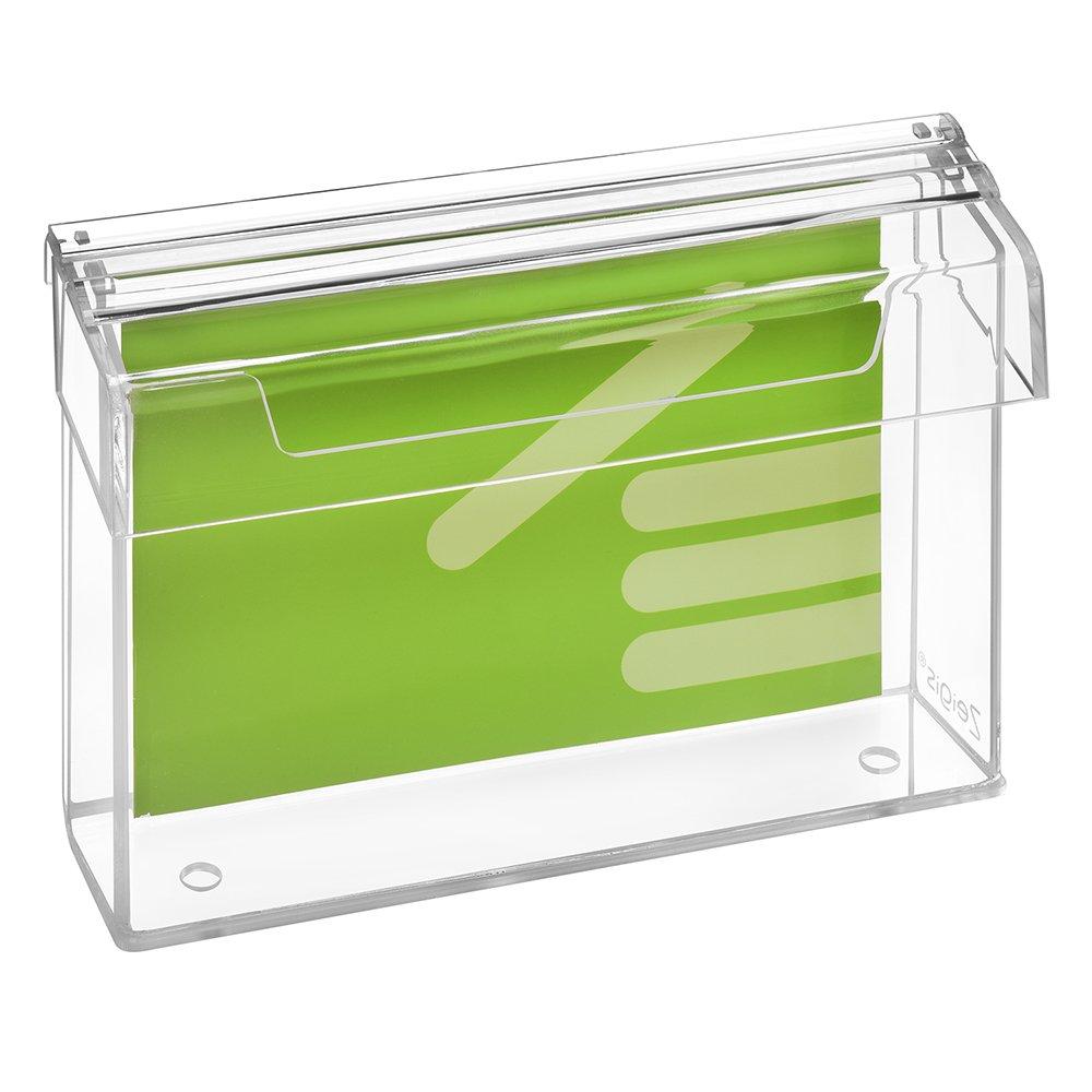 DIN A5Prospetto scatola/Espositore per volantini in formato orizzontale, resistente alle intemperie, per esterno, con coperchio, in materiale acrilico trasparente, vetro–zeigis® vetro-zeigis® Unbekannt A0352