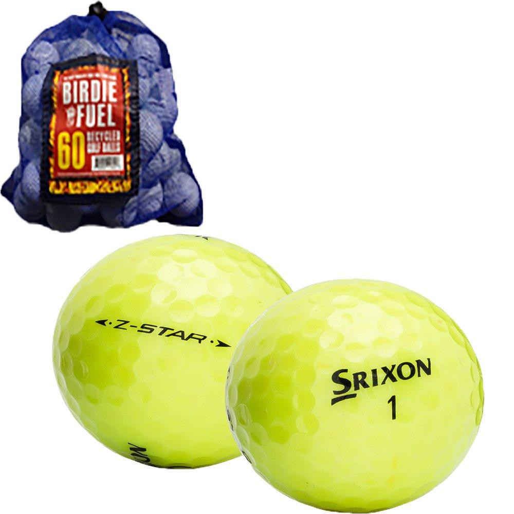 Srixon 60 Z-Star Mix AAAA ほぼミント 中古ゴルフボール メッシュバッグ付き   B077ZFYPKL