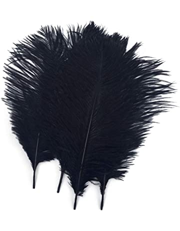 Antiques Realistic Antique Bunch Of Black Ostrich Feathers