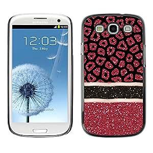 Paccase / SLIM PC / Aliminium Casa Carcasa Funda Case Cover para - Blood Medical Art Glitter Red - Samsung Galaxy S3 I9300