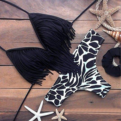 Pièces Tankini Rembourré Push gorge Brésilien Ensemble Taille Gland Femme Soutien 2 Noir Amlaiworld Bikini up Maillots Sexy Bain De Haute 6WxvSAqaSw