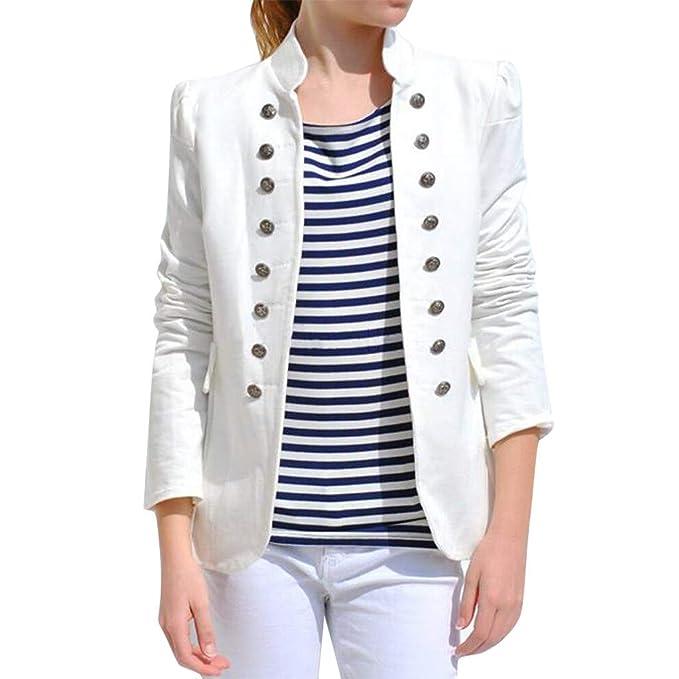 MXJEEIO💖 Chaqueta De Traje Mujer Primavera Otoño Invierno Cálido Vintage Tailcoat Chaqueta Abrigo Outwear Botones Uniformes Office Terciopelo Blazer ...