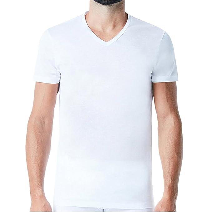 26b0011f3657f7 6pz maglia intima Speedy Line taglia 5/L cotone - maglie bianco blu nero -  girocollo o collo a V: Amazon.it: Abbigliamento