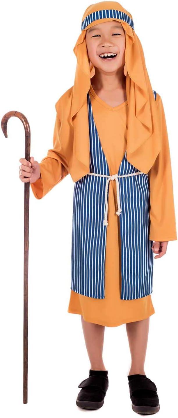 Fun Shack Azul Pastor Disfraz para Niños y Niñas - XL: Amazon.es ...