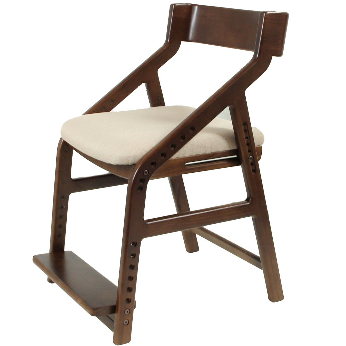 タンスのゲン 子供用 学習椅子 キッズチェア ダイニングチェアー 学習チェア ダークブラウン×クリーム 88000024 N2 B071KF1YGH Parent ダークブラウン×クリーム