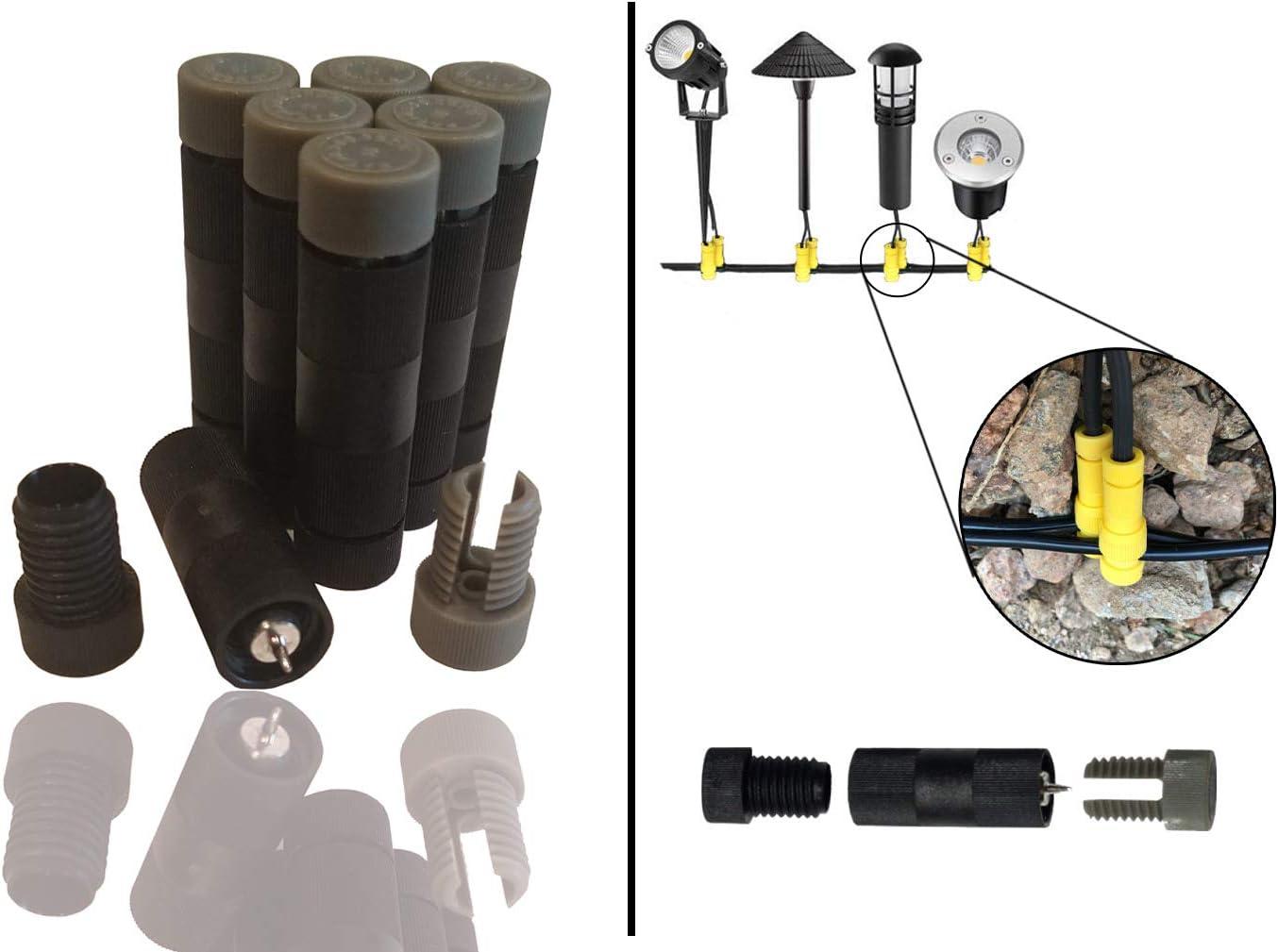 Modtek Low Voltage High Performance Piercing Connectors for Landscape Lights, Cable Connector for14-16 Gauge Wire – 50pc