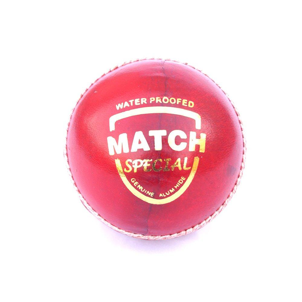 Balle de Cricket en Cuir | | Rouge | Match Special Grade | Ikshvaku Balles de Cricket