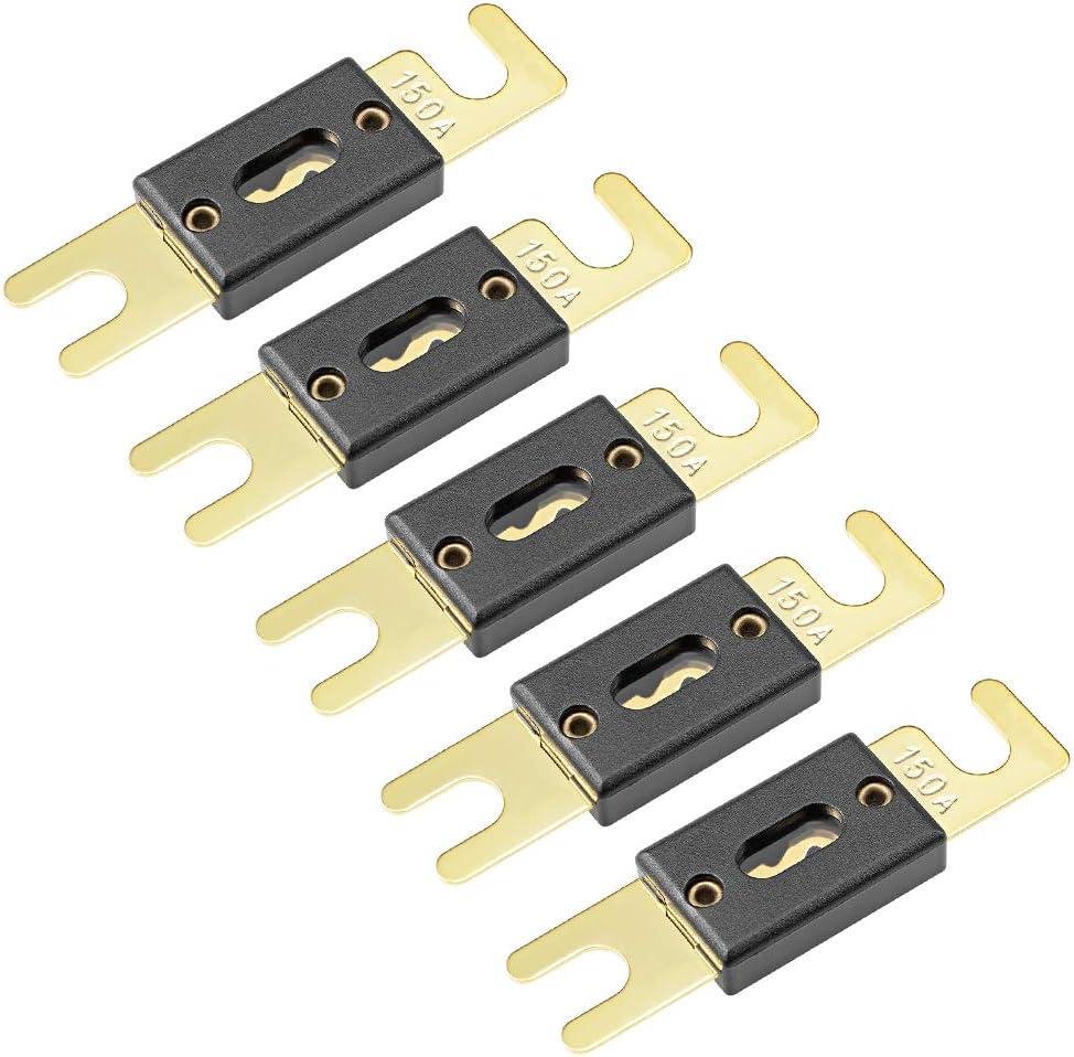 uxcell ANL Fuse 150 Amp DC 32 Volt for Automotive Car Vehicle Audio Amplifier Inverter Replacement 5pcs