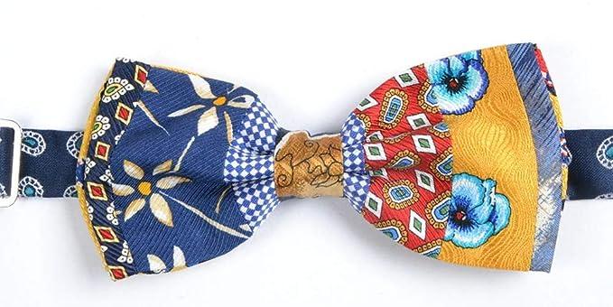 Graffeo - Corbata de pajarita para hombre, estampado patchwork ...