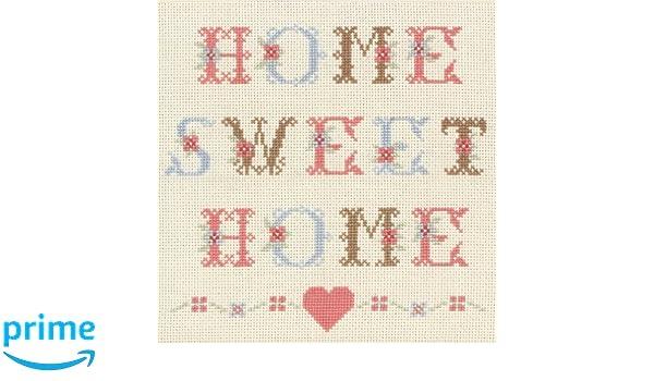 dise/ño con Texto Home Sweet Home Anchor Kit de Punto de Cruz