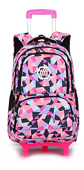 Image Unavailable. Image not available for. Colour  Belify Kids Rolling  Backpacks Luggage Two Wheels Unisex Trolley School Bags Black For Girls 5829cca62d9c4