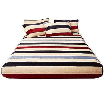 LFY Protector de colchón de Franela tamaño Queen, Ropa de Cama de Invierno Funda de colchón Simmons Cubierta de Cama (Color : A): Amazon.es: Hogar
