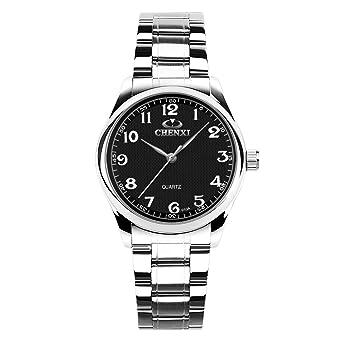 Relojes Mujer de Marca Deporte Acero Inoxidable Impermeable ...