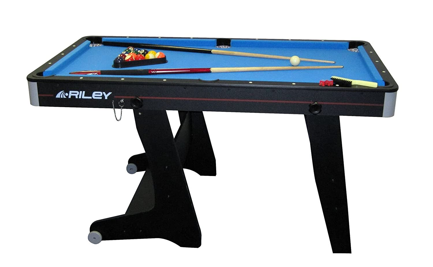 Riley 5 Ft Folding Domestic Pool Table   Black: Amazon.co.uk: Sports U0026  Outdoors