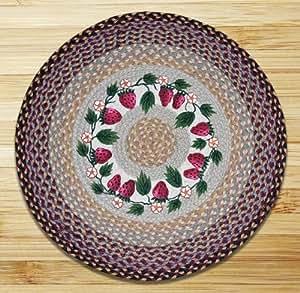 Tierra alfombras 66 357s fresas redondo patch for Alfombras comedor amazon