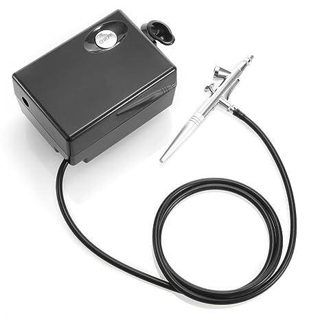 LISCENERY - Mini aerógrafo de maquillaje portátil, compresor de aire, kit para artes comerciales