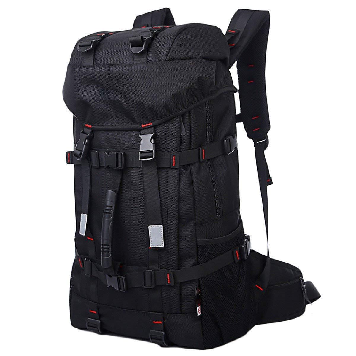 Pureed Reiserucksack Im Freien Freizeit Mode Trends Tragbaren Multifunktionale Bergsteigen Taschen Schwarz (Farbe   Schwarz, Größe   One Größe)