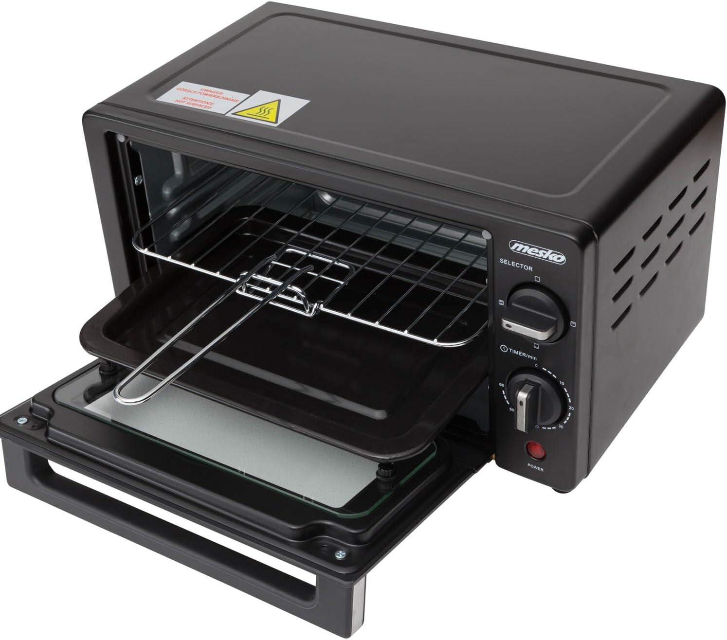 Mini Backofen 9L Elektrisch Minibackofen 1000 Watt Timer 60min Miniofen Ofen