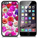 CocoZ? New Apple iPhone 6 s 4.7-inch Case Beautiful Colorful roses pattern PC Material Case (Black PC & Colorful roses 25)