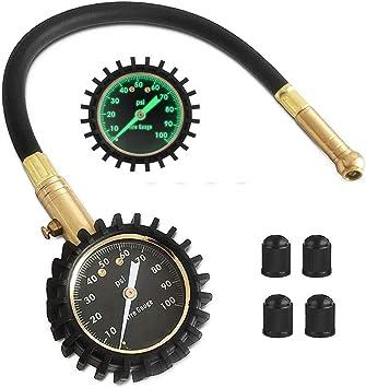 Medidor de Presión de Neumáticos, Manómetro Preciso para su Automóvil, Camión, Motocicleta y Bicicleta: Amazon.es: Coche y moto