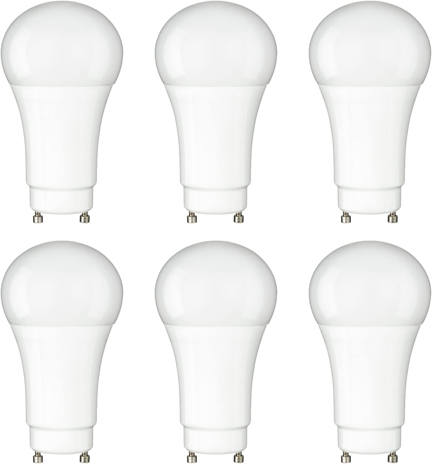 Sunlite A19//GU24//LED//10W//D//E//40K LED 10W 4000K Cool White Light 1 Pack 4000K-Cool GU24 Base Frosted A19 Bulbs 60W Equivalent