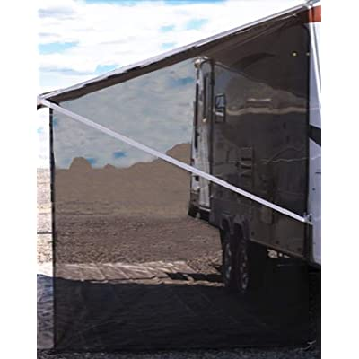 Tentproinc RV Awning Side Shade 9'X7' - Black Mesh Screen Sunshade Complete Kits Camping Trailer Canopy UV Sun Blocker - 3 Years Limited Warranty: Automotive