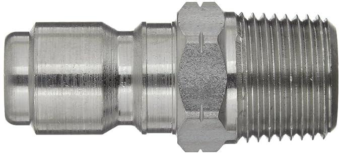 Dixon STMP3SS Acero inoxidable 303 Acoplamiento rápido hidráulico, enchufe, acoplamiento macho de 3/8