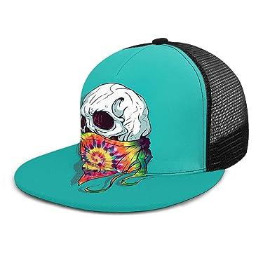 Gorra de béisbol con diseño de Calavera Hipster y teñido de ...