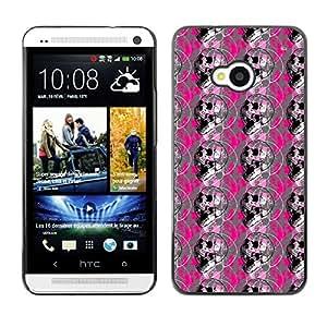 ZECASE Funda Carcasa Tapa Case Cover Para HTC One M7 No.0001912