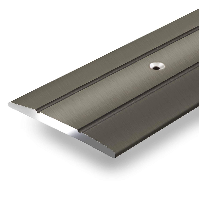 Alu Ü bergangsprofil Firm   C Form   gelochte Abdeckleiste zum Schrauben   Breite 36 mm   eloxiert Bronze   134 cm casa pura