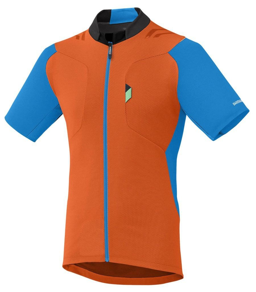 Shimano Jersey Explorer Orange/Lightning blau XXXL