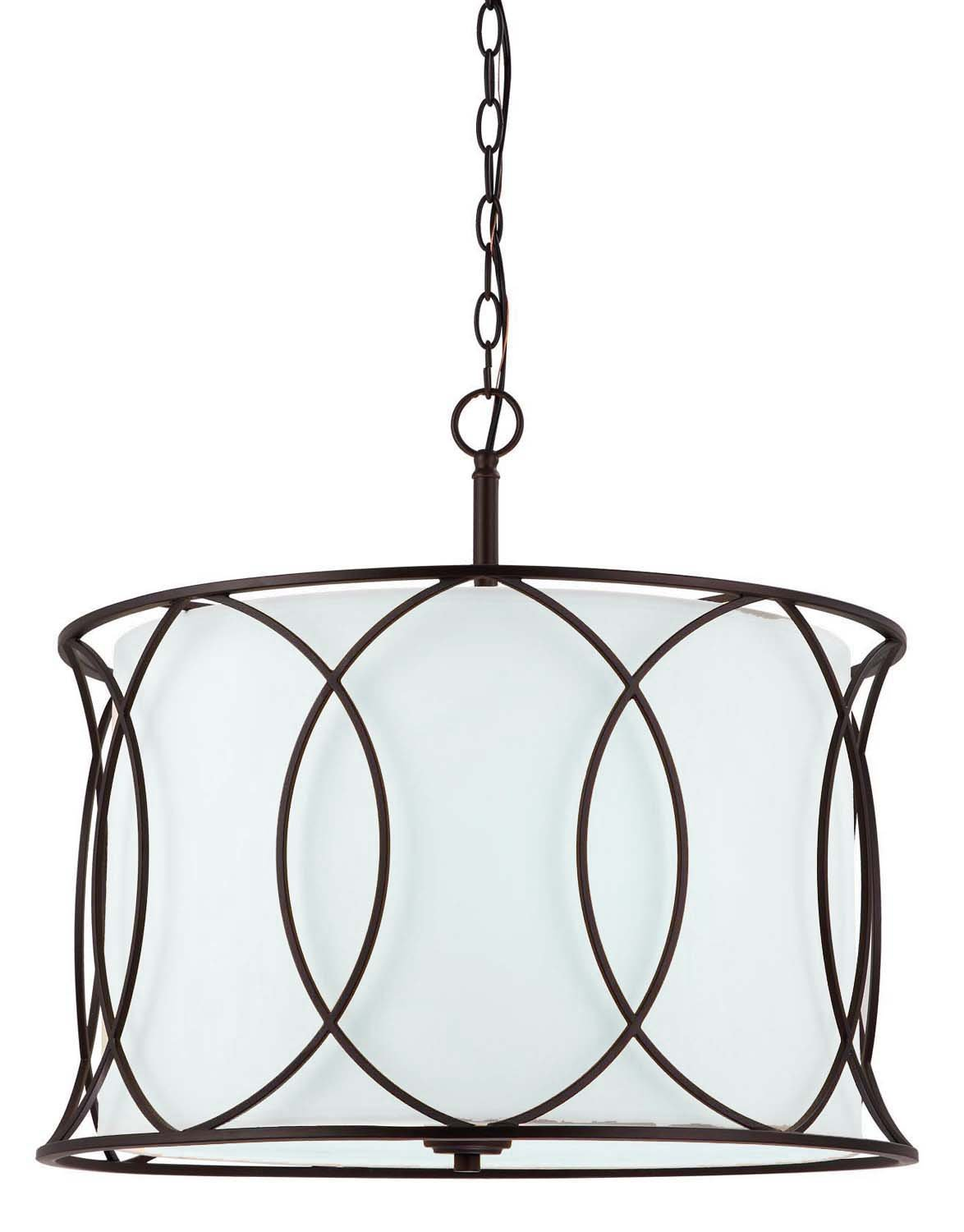 "Canarm ICH320A03ORB20 Monica 3-Light Chandelier, 20.5"" x 20.5"" x 17.5"", Oil Rubbed Bronze"