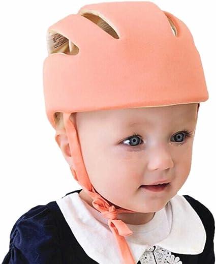 Bonnet de pare Chocs de Coussin de T/ête R/églable Prot/ège T/ête Respirant pour les Tout-Petits Chapeau de Casque de S/écurit/é B/éb/é Toddler les Gar/çons et les Filles Apprennent /à Marcher