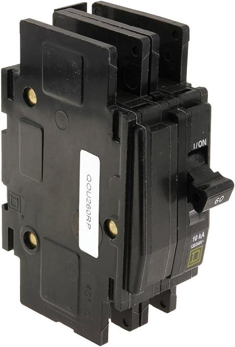 QOU260 Square D Circuit Breaker 60 Amp 2 Pole 120//240V