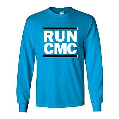"""The Silo LONG SLEEVE BLUE Carolina McCaffrey """"RUN CMC"""" T-Shirt"""