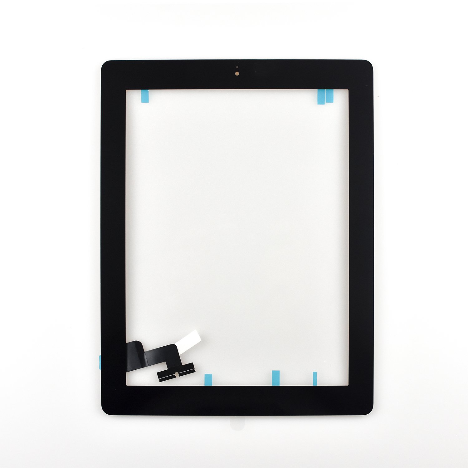 Touch Screen Digitizer Assembled with Home Button Strong Adhesive for iPad 2 2nd Generation A1395 A1396 A1397 (black)