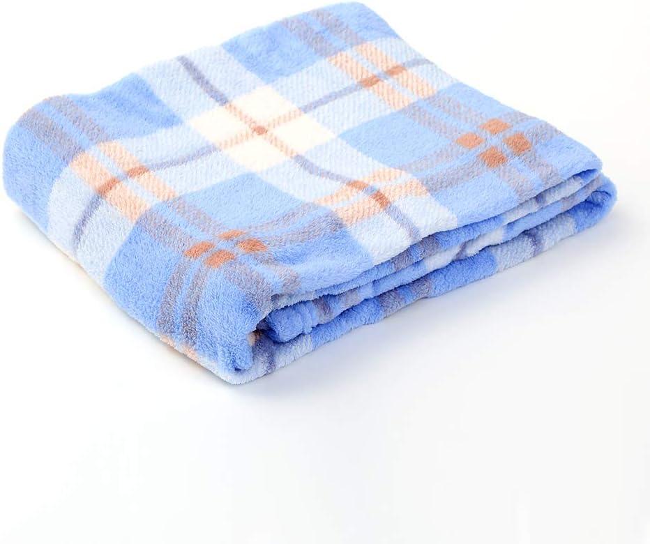 i-baby Couvertures B/éb/é Polaire Plaid Enfant Fille Garcon Naissance 1 2 3 4 5 Ans 4 Saisons Bleu, 90x120cm