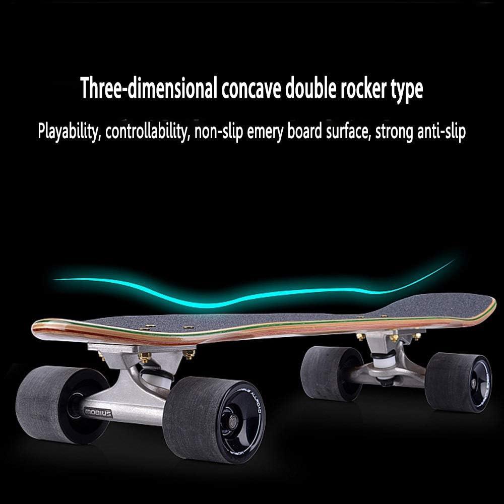 WHOJS Mini Cruiser Skate 27 Pouces Planche De Surf Courte Convient Aux Adolescents Adultes Skateboard Route D/ébutant Roue dusure /À Haute /Élasticit/é 78A 【Couleur et s/élection de Motif】