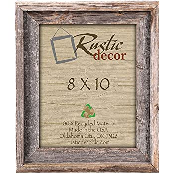 wood picture frames. 8x10 Picture Frames -Signature Barnwood Reclaimed Wood Photo