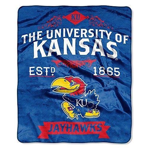 (The Northwest Company NCAA Kansas Jayhawks College Label Raschel Throw, 50 x 60-Inch)